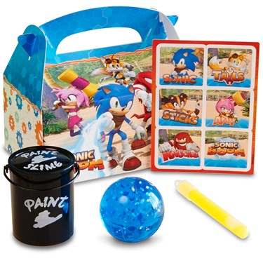 Sonic Boom Filled Favor Boxes (4-Pack)