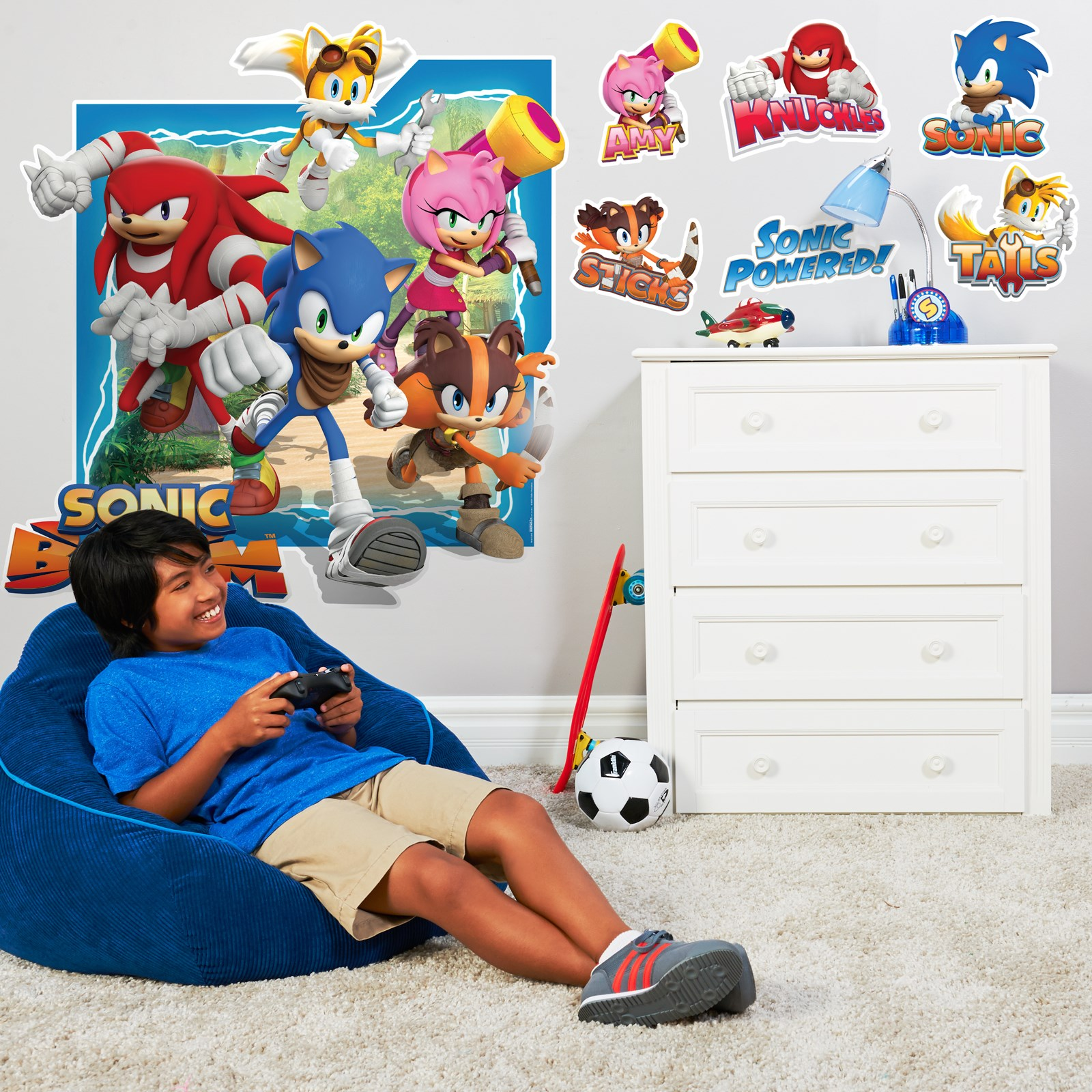sonic boom giant wall decal birthdayexpress com