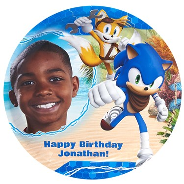 Sonic Boom Personalized Dinner Plates