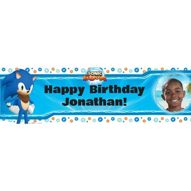 Sonic Boom Personalized Photo Banner