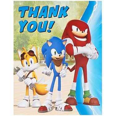 Sonic Boom Thank You Notes