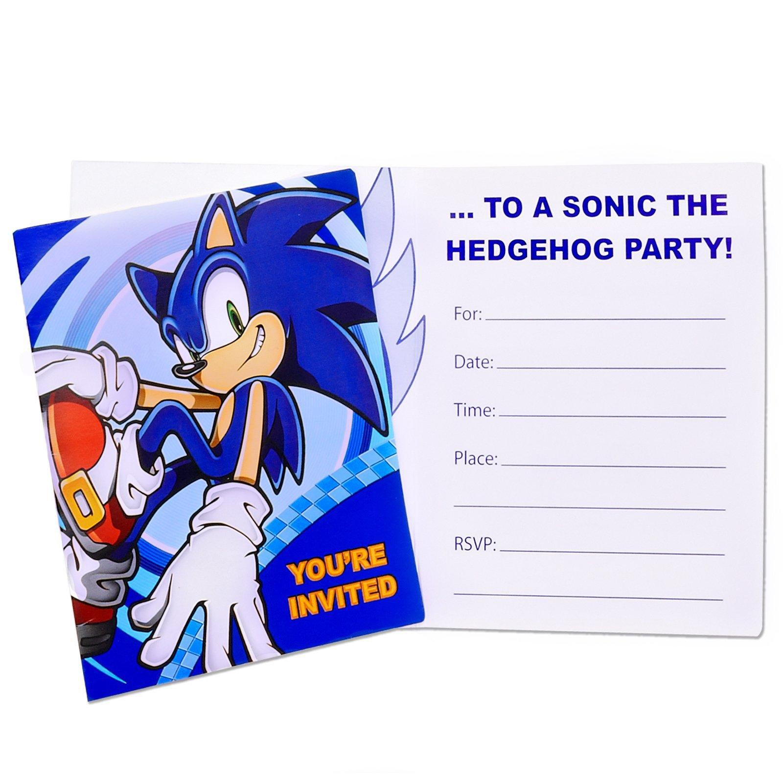 Sonic the Hedgehog Invitations | BirthdayExpress.com