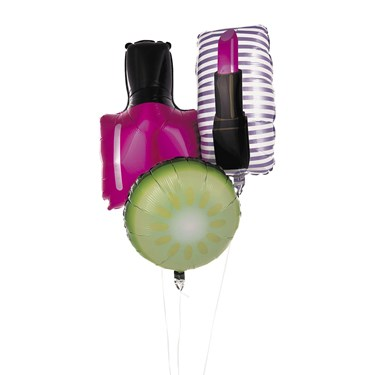 Spa Party Mylar Foil Balloons