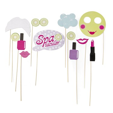 Spa Party Photo Stick Props(12)