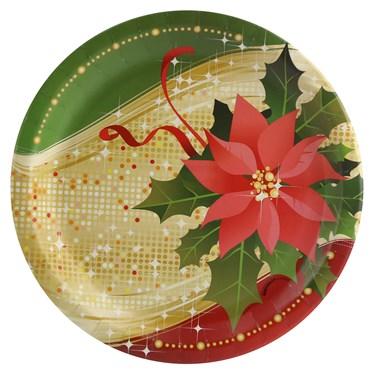 Sparkling Christmas Dinner Plate (8)