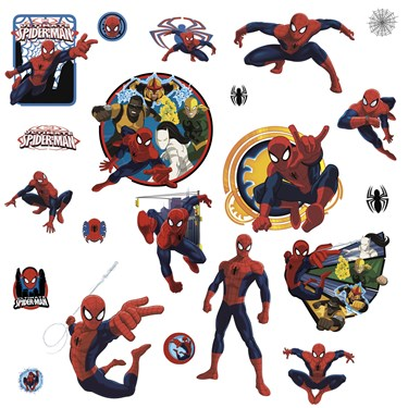 Spider-Man Ultimate Team Hero Wall Decals