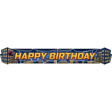 Spiderman 3D Birthday Banner