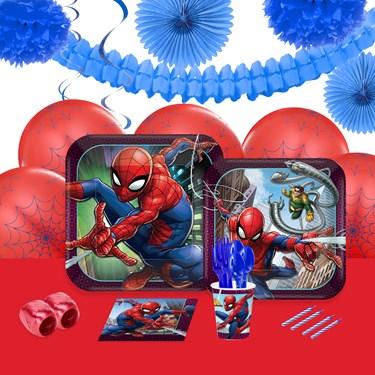 Spiderman Webbed Wonder 16 Guest Party Pack + Deco Kit