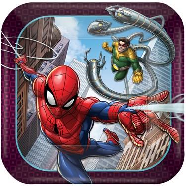 Spiderman Webbed Wonder Dessert Plates (8)