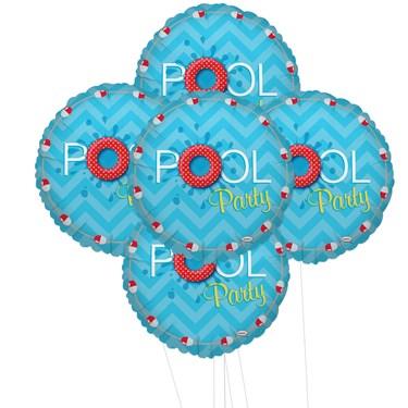 Splashin Pool Party 5pc Foil Balloon Kit