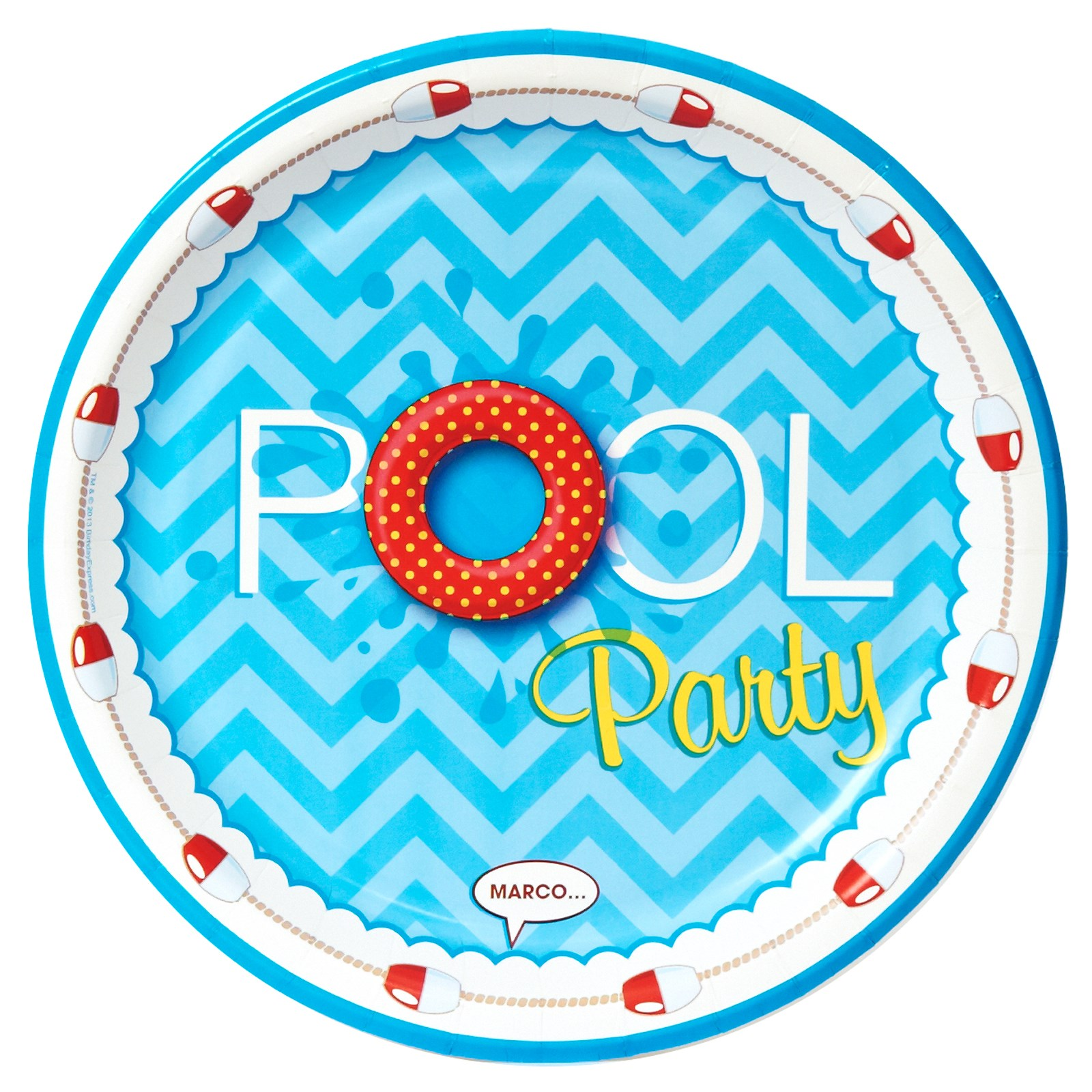 Splashin Pool Party Dinner Plates on Beach Printables Pack