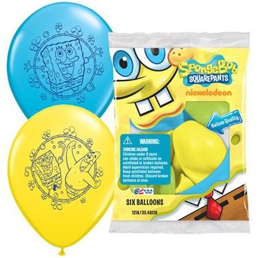 "Spongebob 12"" Latex Balloons (6)"