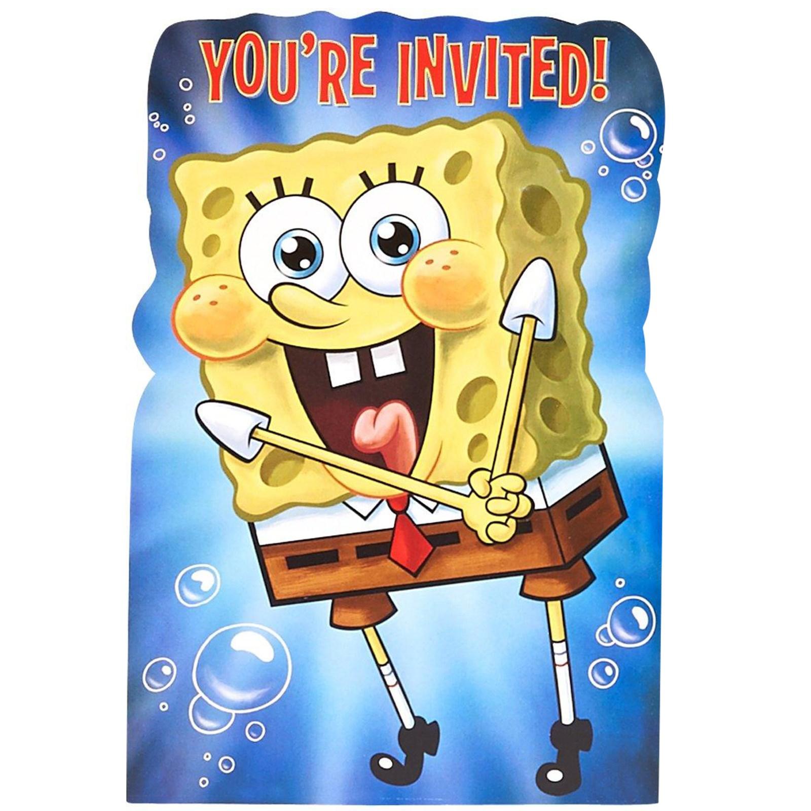 SpongeBob SquarePants Party Supplies – Spongebob Birthday Party Invitations