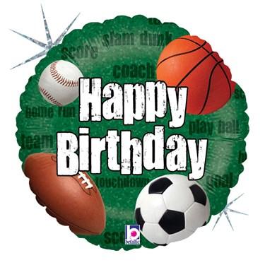 Sports Balls Birthday Foil Balloon
