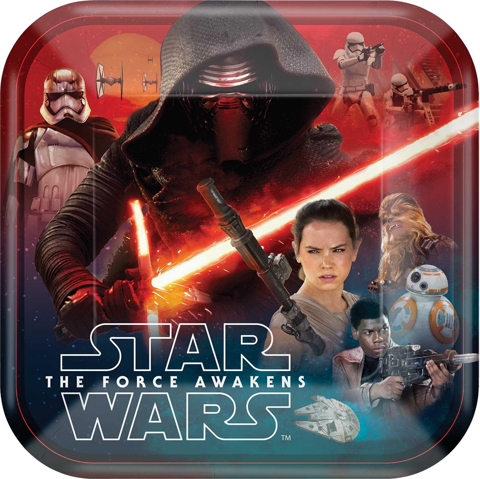 sc 1 st  Birthday Express & Star Wars 7 The Force Awakens Dinner Plates | BirthdayExpress.com
