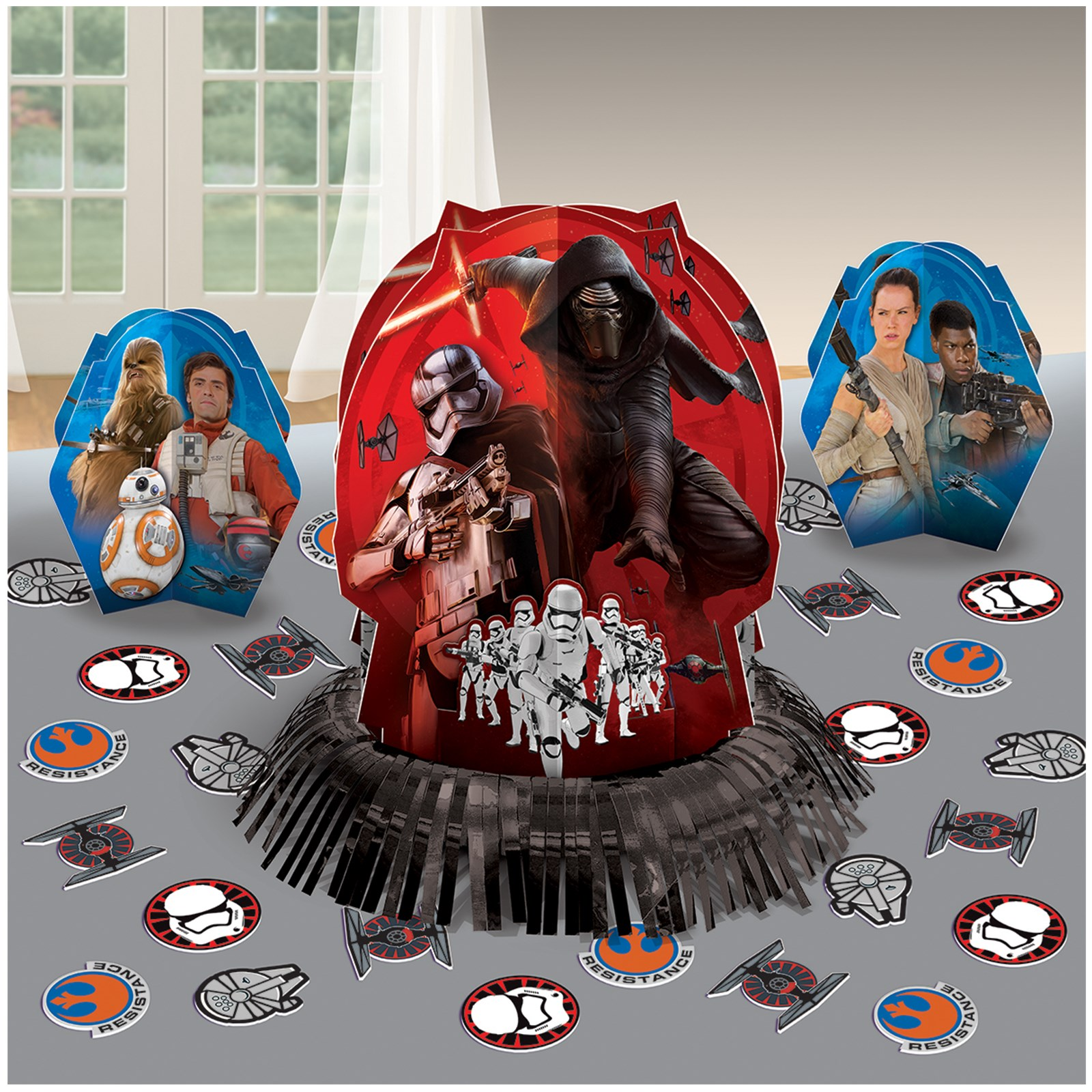 Star wars 7 the force awakens table decorating kit for Star wars dekoration