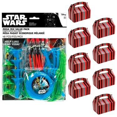 Star Wars Classic Filled Favor Box Kit  (For 8 Guests)