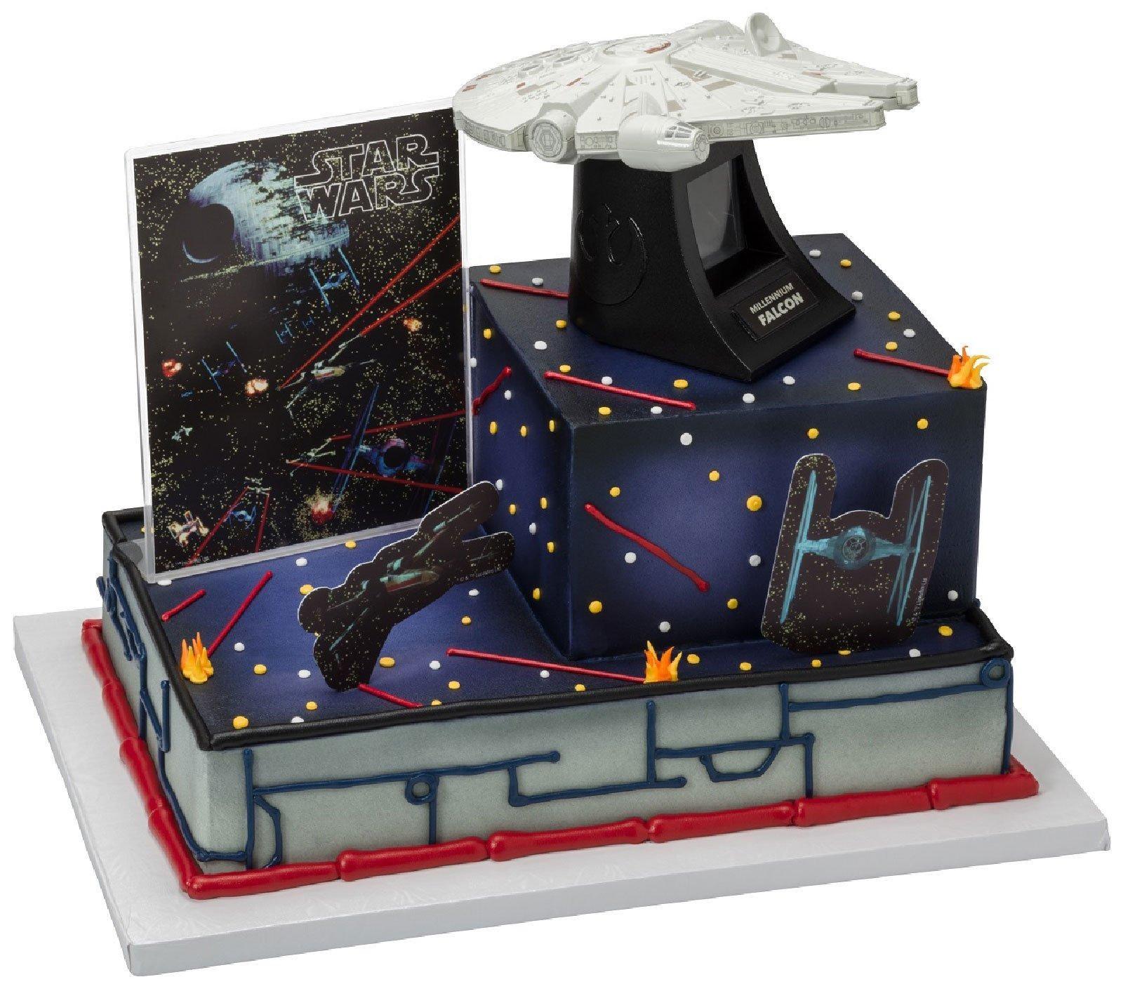 Star Wars Millennium Falcon Cake Topper 4 Pieces