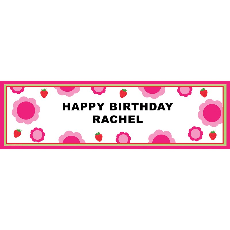 Strawberry Personalized Vinyl Banner
