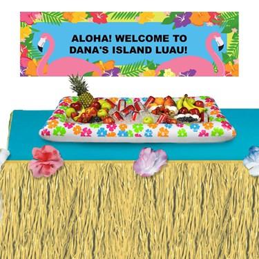 Summer Fun Banner + Cooler + Tableskirt Kit