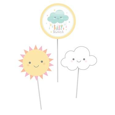 Sunshine Baby Showers Centerpiece Cutout Sticks (3)