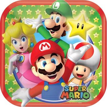 """Super Mario 7"""" Cake Plates (8 Pack)"""