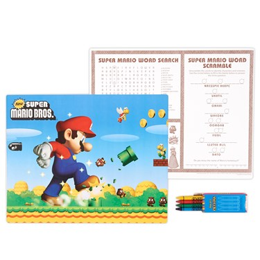 Super Mario Bros. Activity Placemat Kit for 4