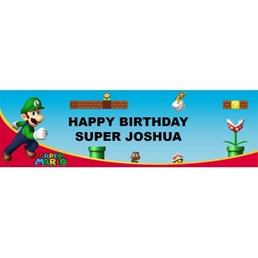 Super Mario Bros. - Luigi Personalized Vinyl Banner