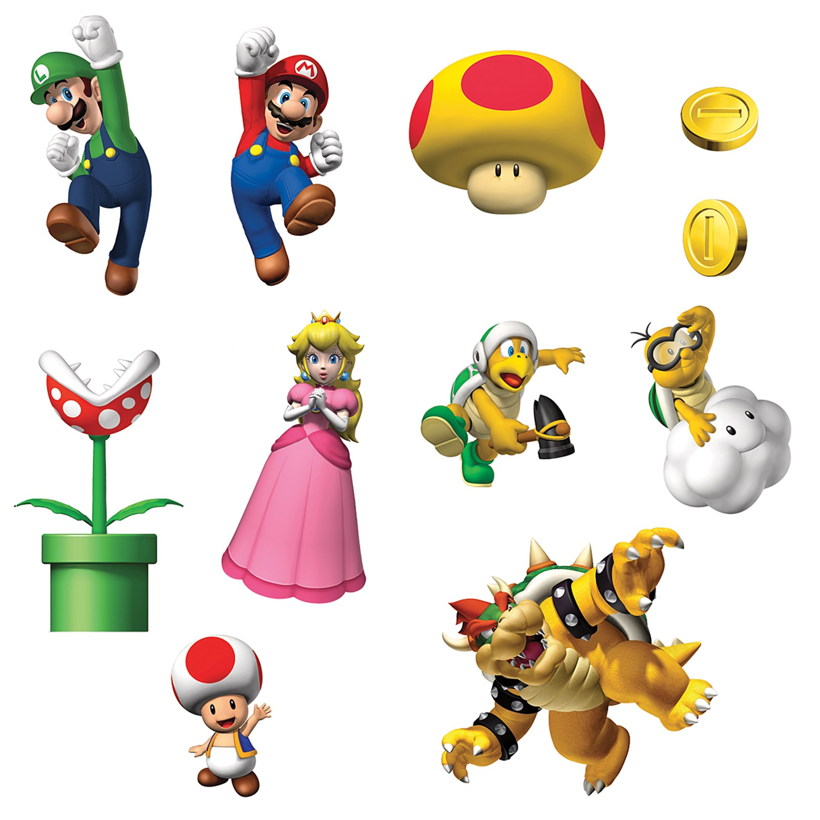 Super mario bros removable wall decorations for Mario decorations