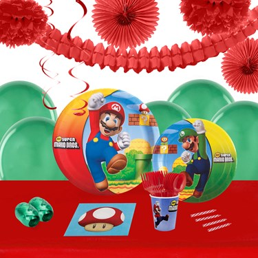 Super Mario Brothers 16 Guest Tableware & Deco Kit