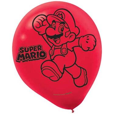 Super Mario Latex Balloons - (6 Pack)