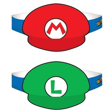 Super Mario Paper Hats - (8 Pack)
