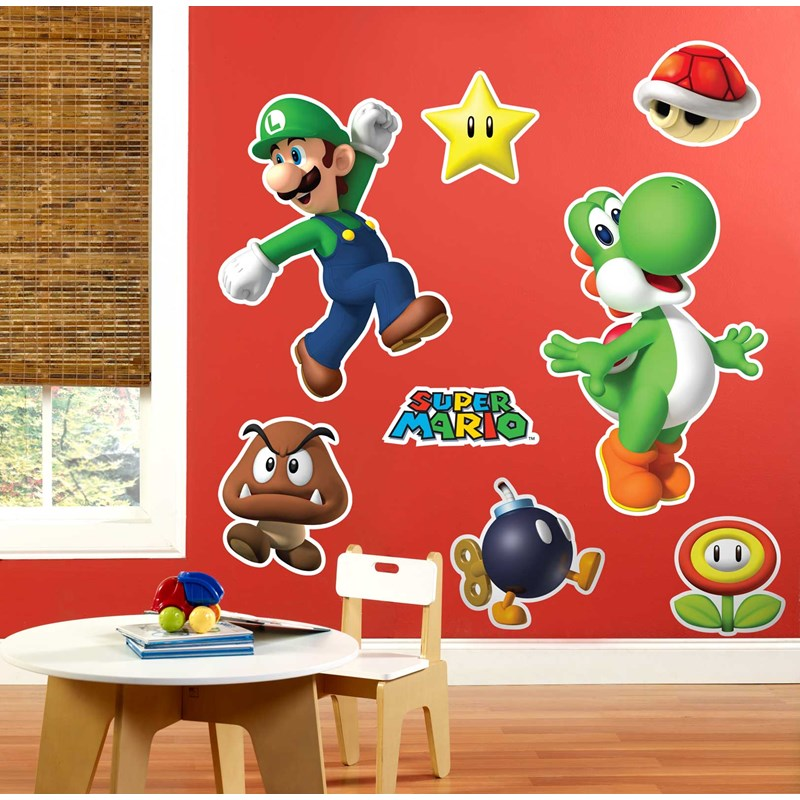 Super Mario Party Giant Wall Decals Birthdayexpress Com