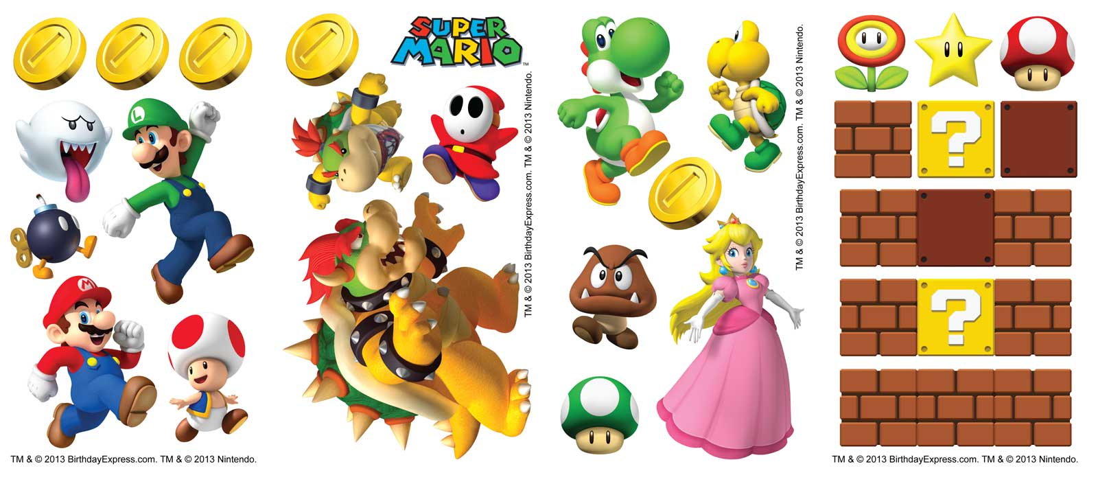 Default Image - Super Mario Party Small Wall Decals