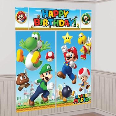 Super Mario Scene Setters® Wall Dec. Kit