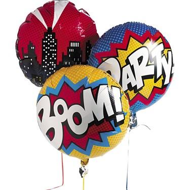 """Superhero 18"""" Balloon Set (3)"""