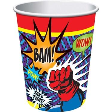 Superhero 9 Oz Cups (8 Pack)