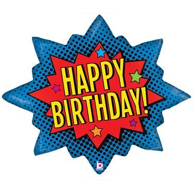 """Superhero Birthday Jumbo Foil Balloon (32"""")"""