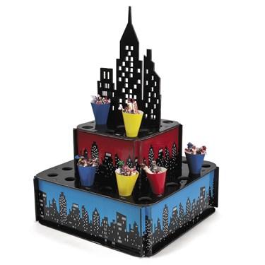 Superhero City Tray W/ Cones(1)