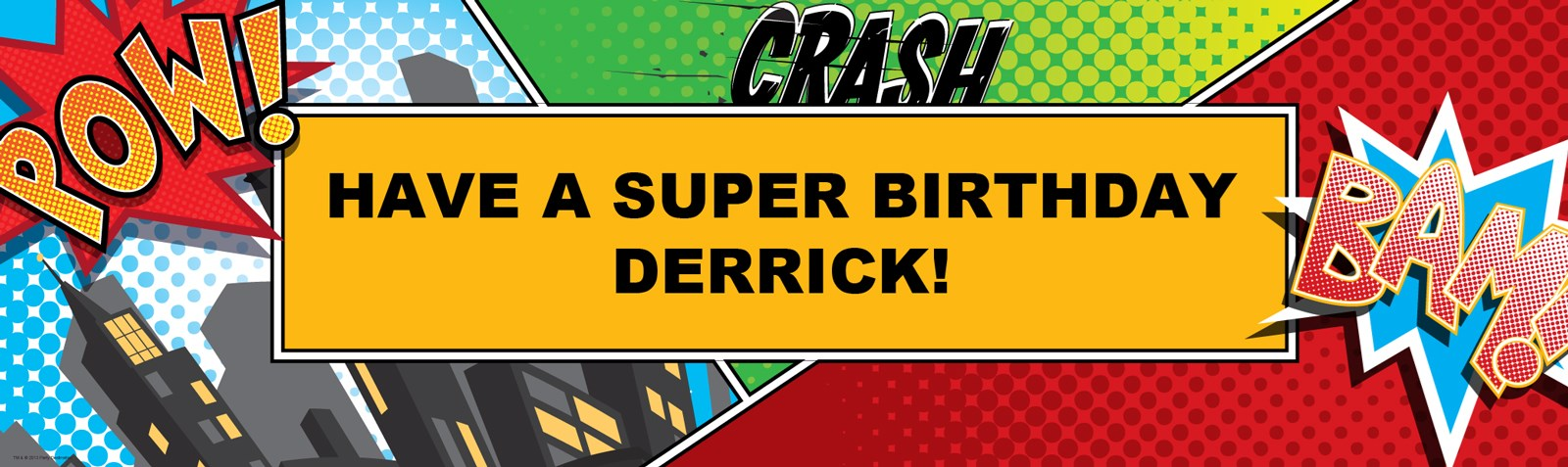 superhero comics personalized vinyl banner  birthdayexpress