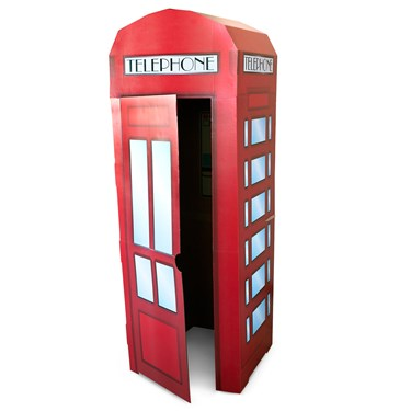 Superhero Comics Phone Booth Cardboard Stand