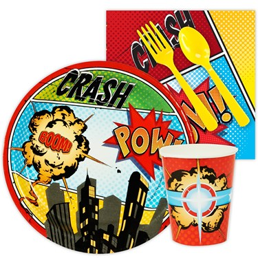 Superhero Comics Snack Party Pack