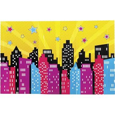 Superhero Girl Backdrop Banner