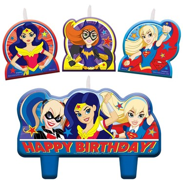 Superhero Girl Birthday Candle Set(4)