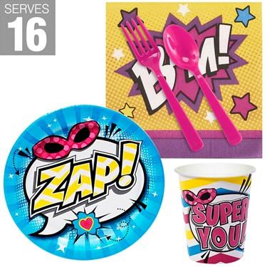 Superhero Girl Snack Pack For 16