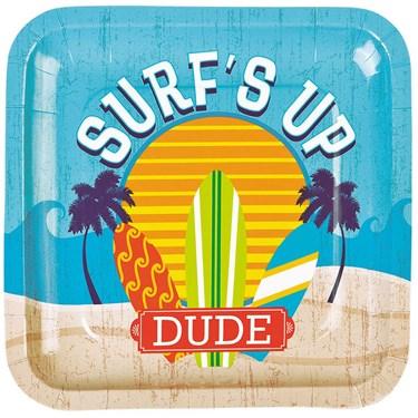 Surfs Up Dinner Plates (8 Pack)