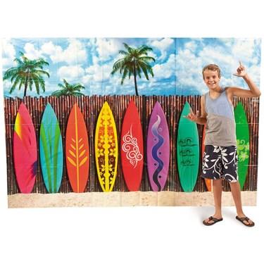 Surfs Up Surfboard Backdrop Banner Set