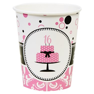 Sweet 16 9oz Paper Cups (8)