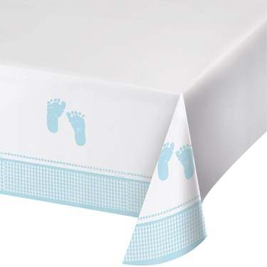 Sweet Baby Feet Blue Table Cover (1)