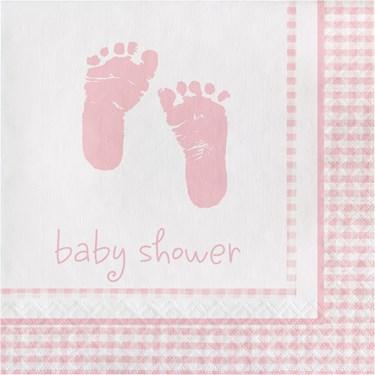 Sweet Baby Feet Pink Luncheon Napkins (1)